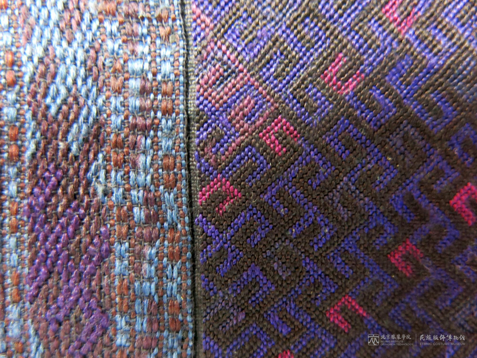 Left side: Brocade; right side: Darning stitch