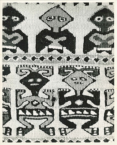 Tapestry detail, Middle Ica, Peru. On Weaving plate 82. Image from The Minneapolis Institute of Arts