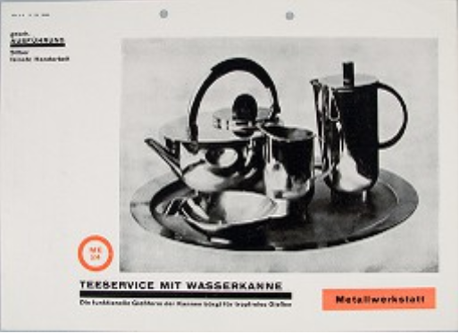 Bauhaus Sample Catalogue Page for Tea Infuser and Strainer. Harvard Art Museums/Busch-Reisinger Museum