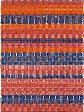 Anni Albers. Red and Blue. 61.6 × 37.8 cm