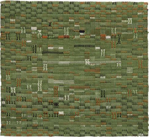Anni Albers, Pasture, 1958. Cotton. 35.6 × 39.3 cm