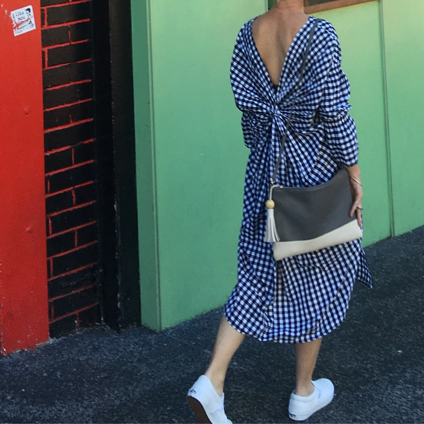 Gingham dress sustainable styling