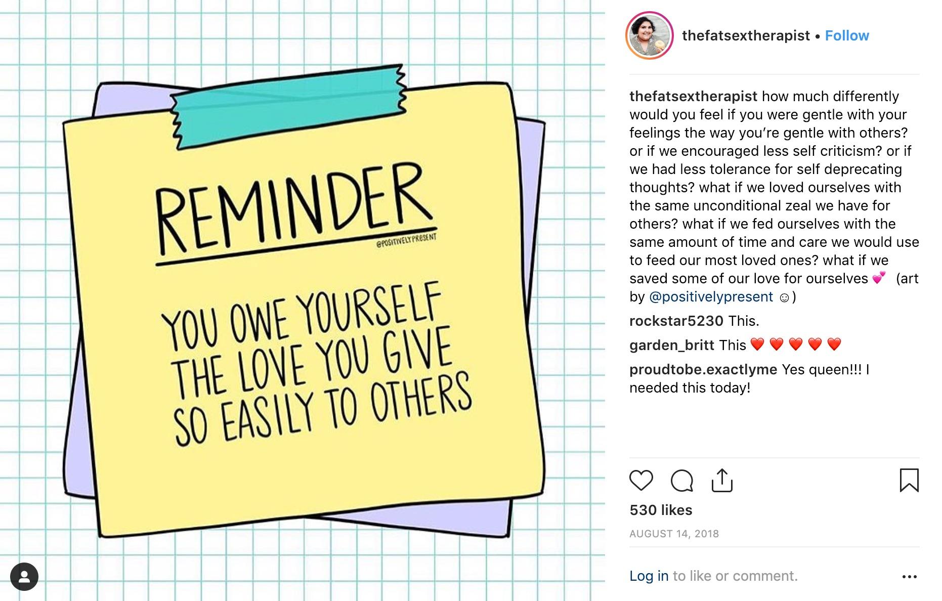 A good reminder.