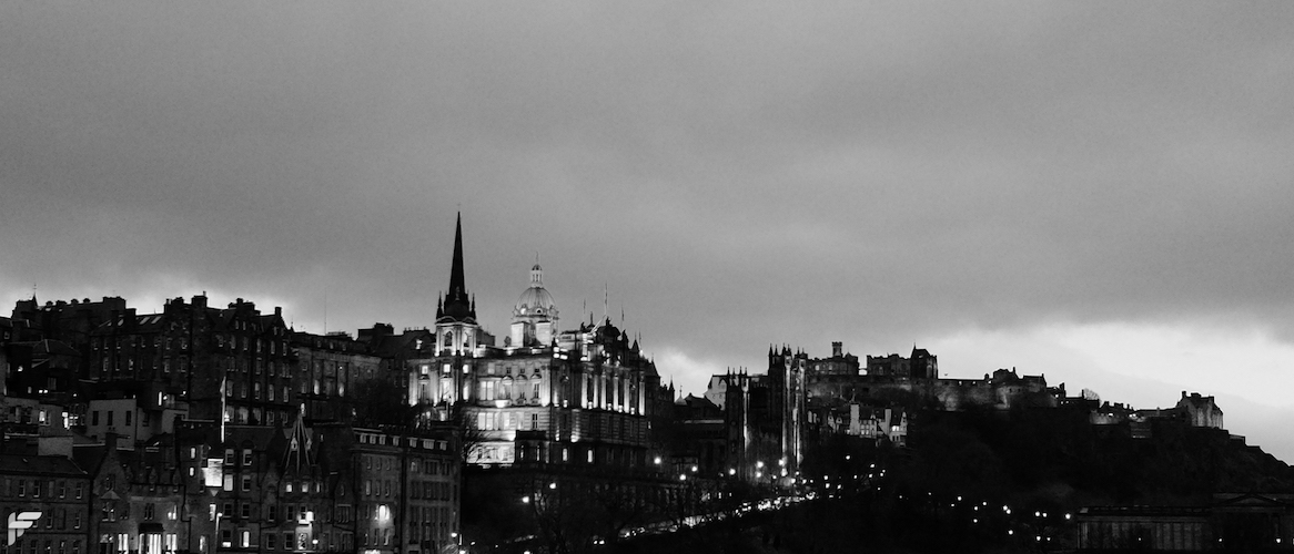 Edinburgh Old Town at Dusk - Fuji X70 (digital zoom, 50mm)