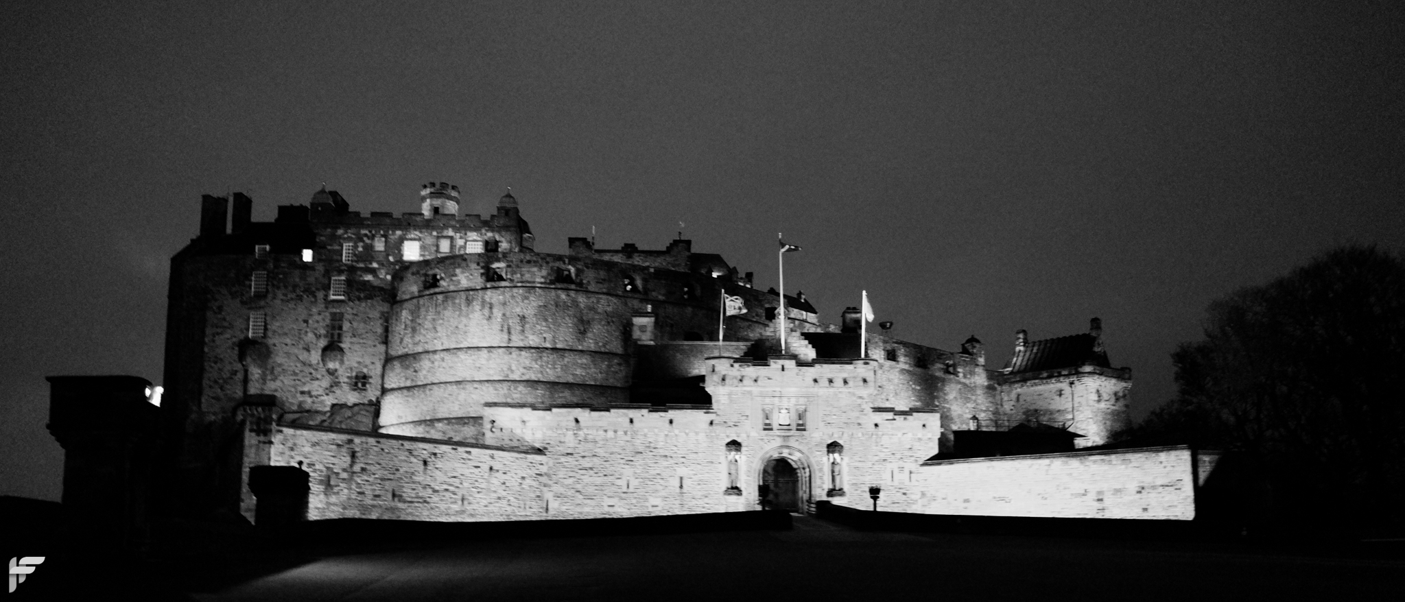 Edinburgh Castle at Night - Fuji X70