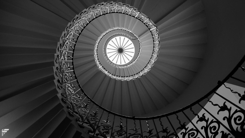 Fuji X70 - Tulip Staircase, Greenwich