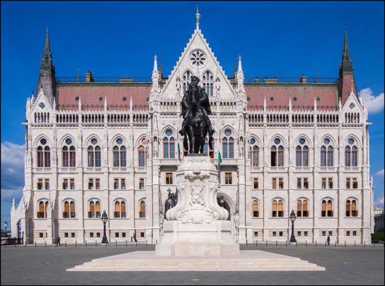 Parliament Building Budapest by Mike Carroll