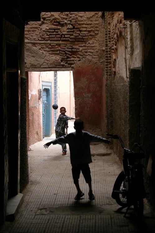 Ball Games in the Medina, Marrakech
