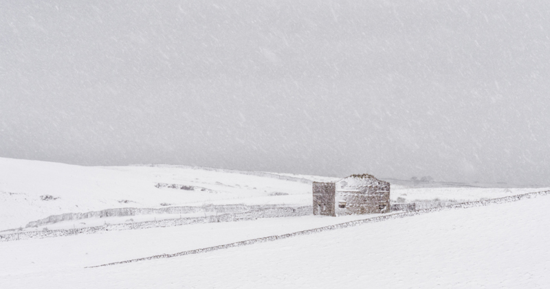 Old Barn in Blizzard, Yorkshire Dales