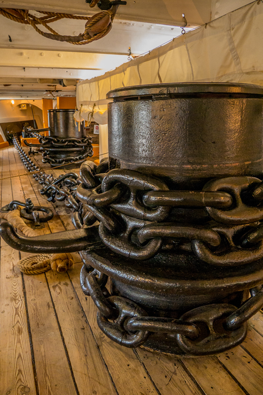 Anchor Chains on HMS Warrior