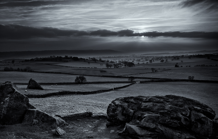 Almscliffe Sunset by Steve Oxley
