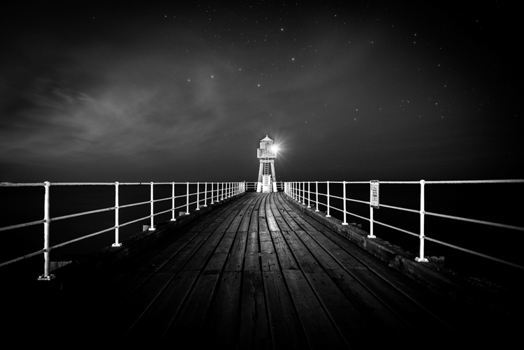 Whitby Pier at Night by Matt Parker