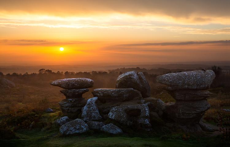 Sunrise over the Blacksmith's Anvil by Steve Oxley
