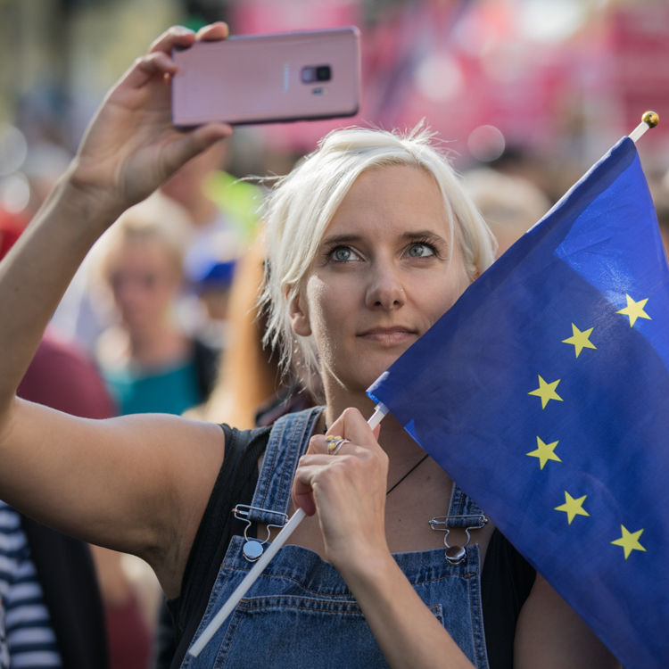 People's Vote March, London 2018 by Simon Hill