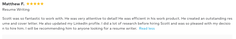 Welsey chapel resume writer near me review