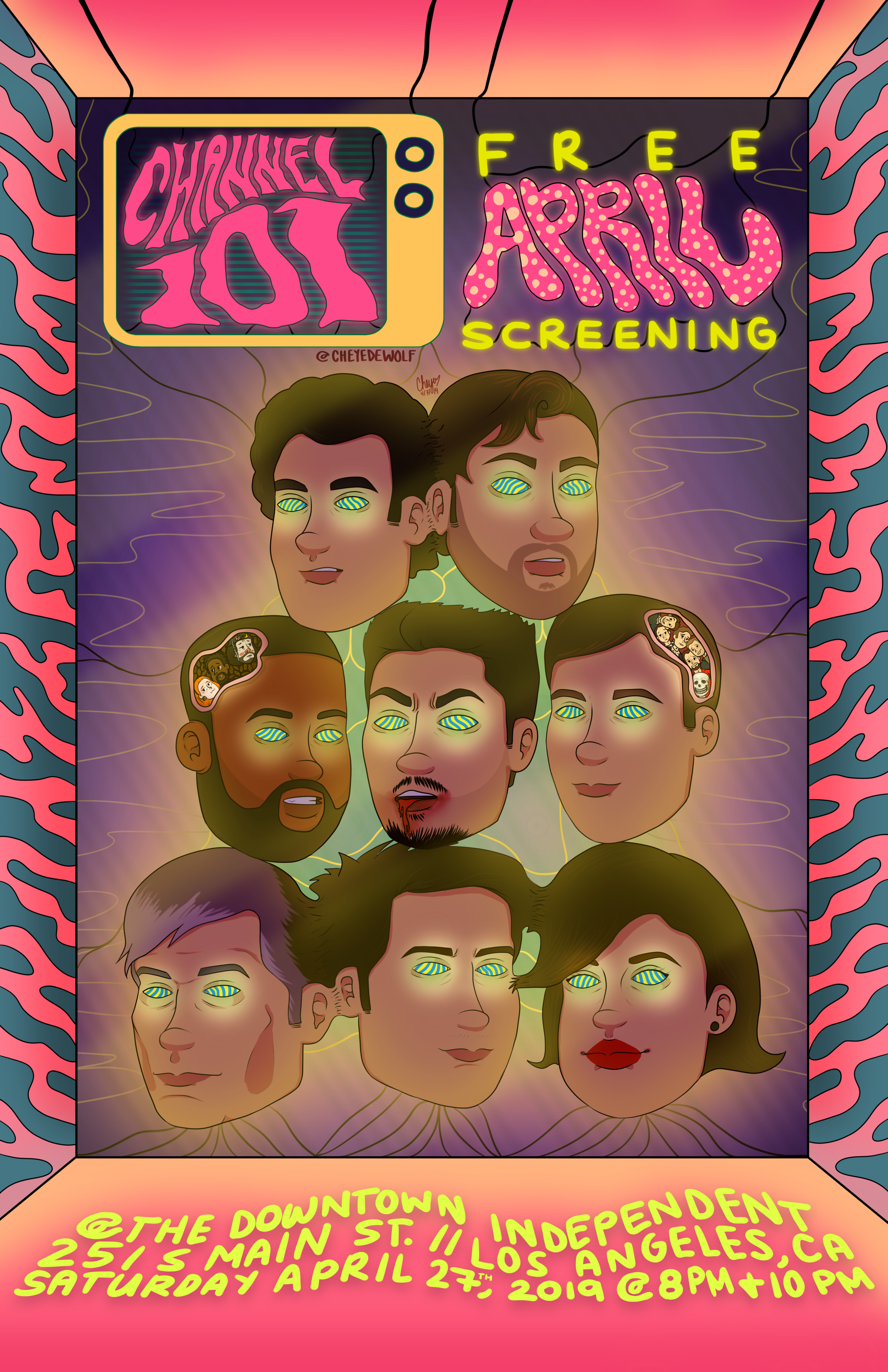 april 2019 channel 101 poster dewolf UPDATED.png