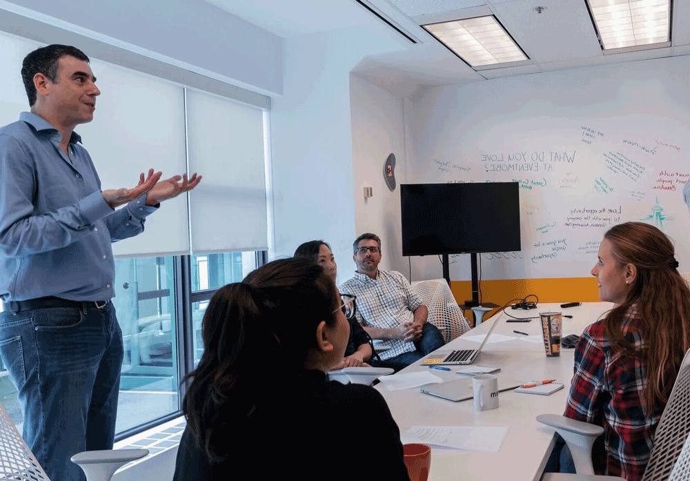 The objective of my team-building workshop is to find the funny in your prospect's world, so reps can show empathy, be memorable, and have better conversations. -