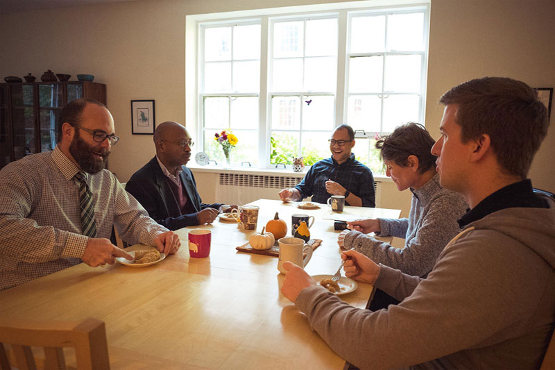 The Academic Dean gathers with students at General Seminary for coffee and pastries