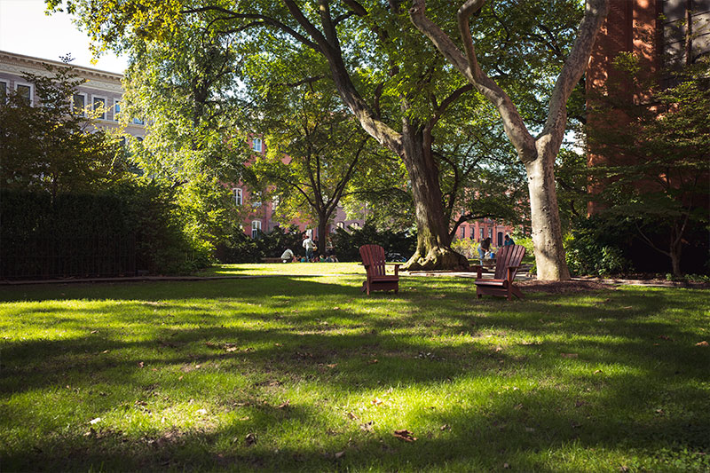 The serene setting of the Close at The General Theological Seminary