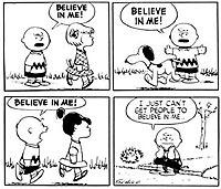 Peanuts Cartoon: Believe in me
