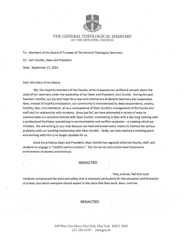 Sept 17 Letter