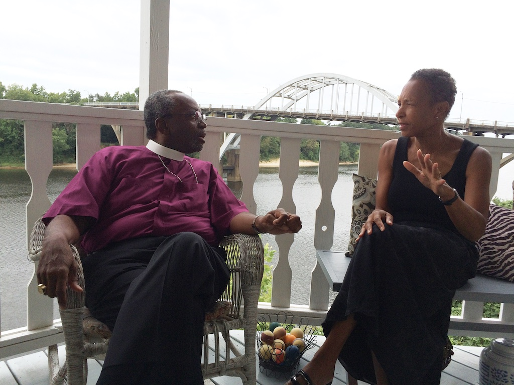 The Rt. Rev. Michael Curry, speaks with Jo Ann Jones