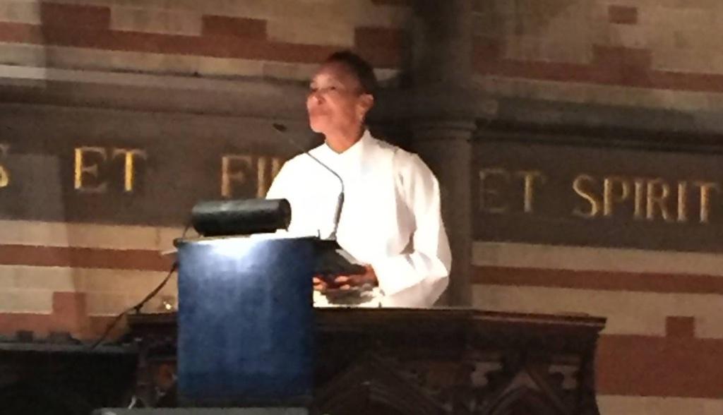 Jo Ann Jones preaching in The Chapel of the Good Shepherd