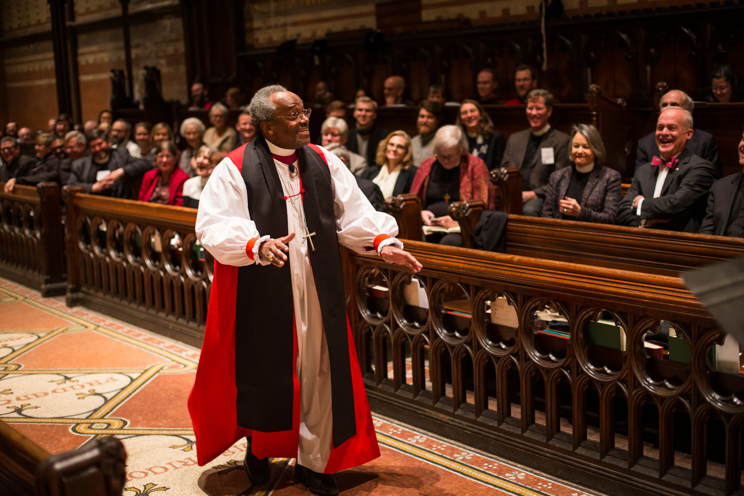 Michael Curry energizes those gathered in The Chapel of the Good Shepherd.