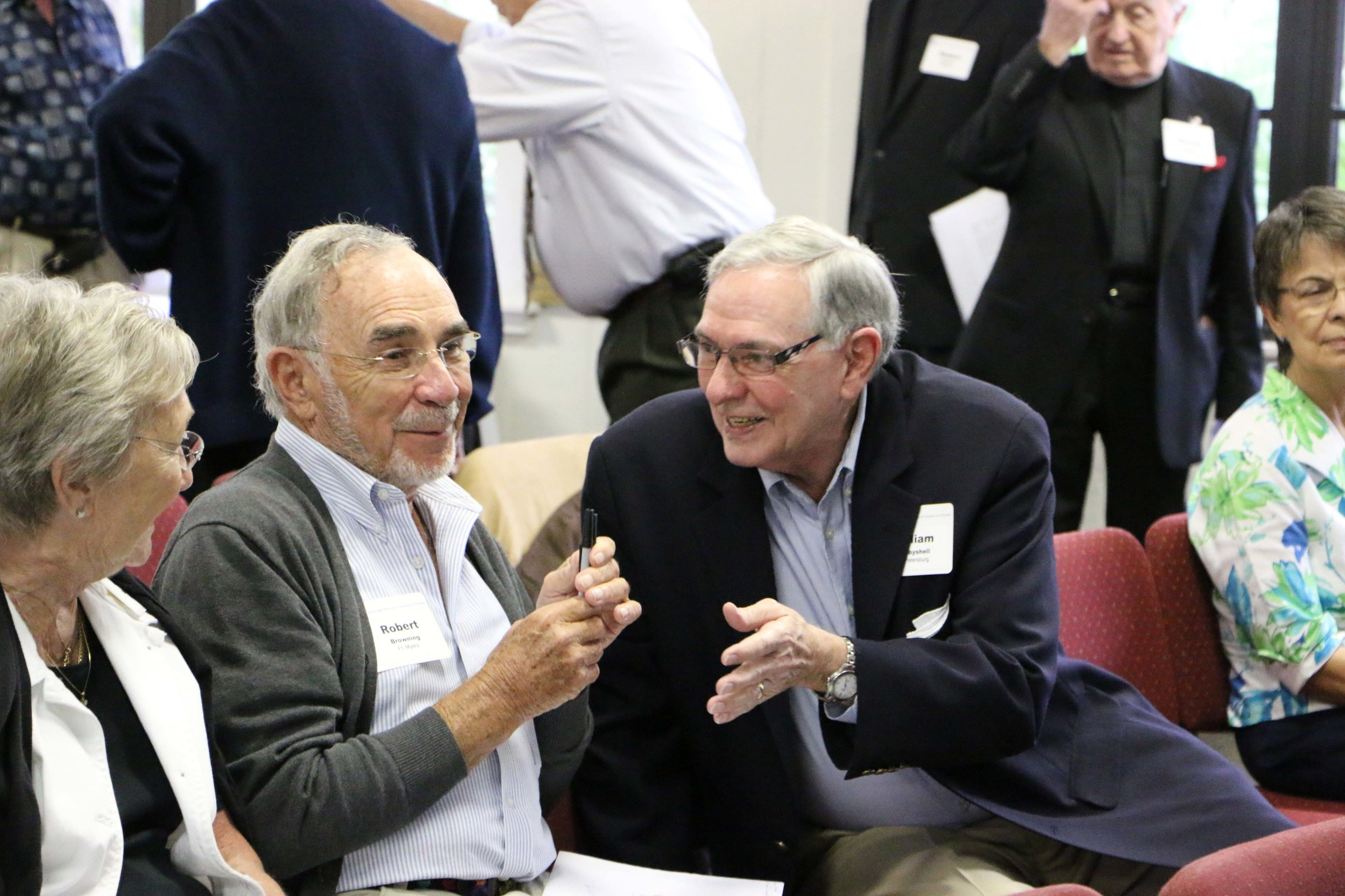 Pictured above, the Rev. Dr. Bosbyshell, at right, with the Rev. Bob Browning, at the 2014 Retired Clergy and Spouses event in the Diocese of Southwest Florida.