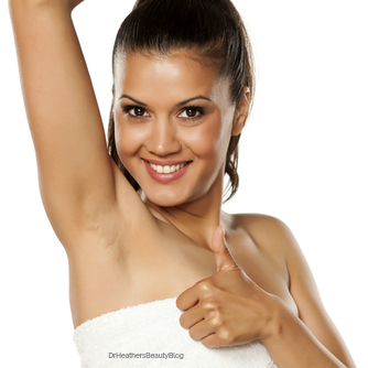 Antiperspirants reduce sweat by blocking the sweat ducts.