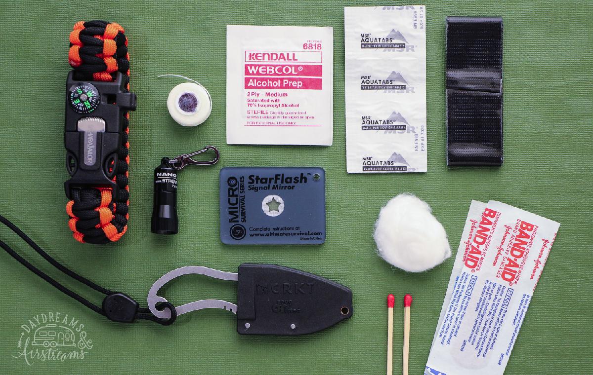 Mini Car Survival Kit Supplies Group 1