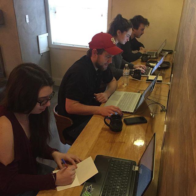 Team Scheinberg hard at work! #ScheinOn