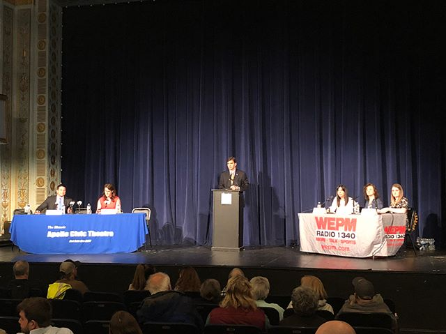 This week, we had the first two Congressional Candidate debates of the race at the @apollotheatrewv in Martinsburg and the LaBelle Theatre in Charleston. Awesome to travel across our district and share my vision for West Virginia's future with all of you! #WVpol #WV02 #ScheinOn