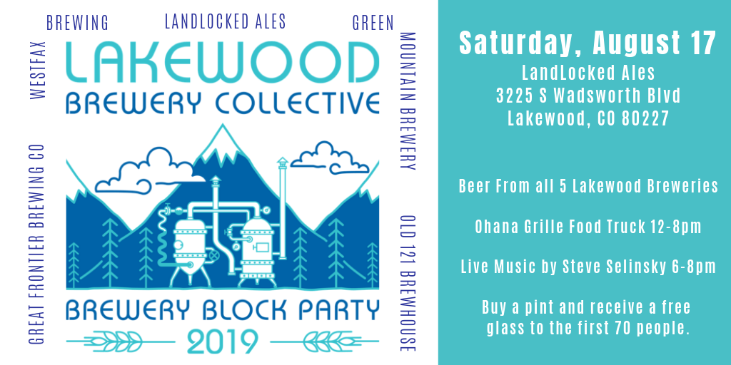 Saturday, August 17 LandLocked Ales 3225 S Wadsworth Blvd, Lakewood, CO 80227.png