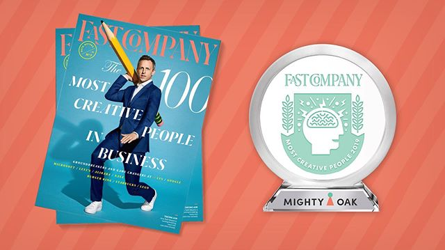Congrats to FEMALE-OWNED, @mightyoakgrows who have just been named in the top 50 of @fastcompany Top 100 Creatives in Business! Right alongside #michellepfeiffer #marsaimartin#sethmyers and #bloodorange. They are featured alongside some of the most innovative voices of the year and are thrilled to represent the artful world of handmade animation and design.  #Inspired #WomenInAnimation #theFutureIsFemale #CutterConnections #FCMostCreative 🥳