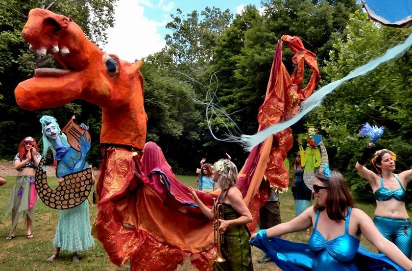 Rosendale mermaid parade - Community gathering to support town projects, programs & places,2016; photo by Jim Peppler