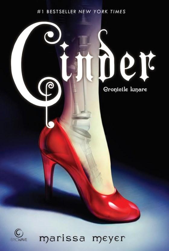 Coperta romanului Cinder de Marissa Meyer
