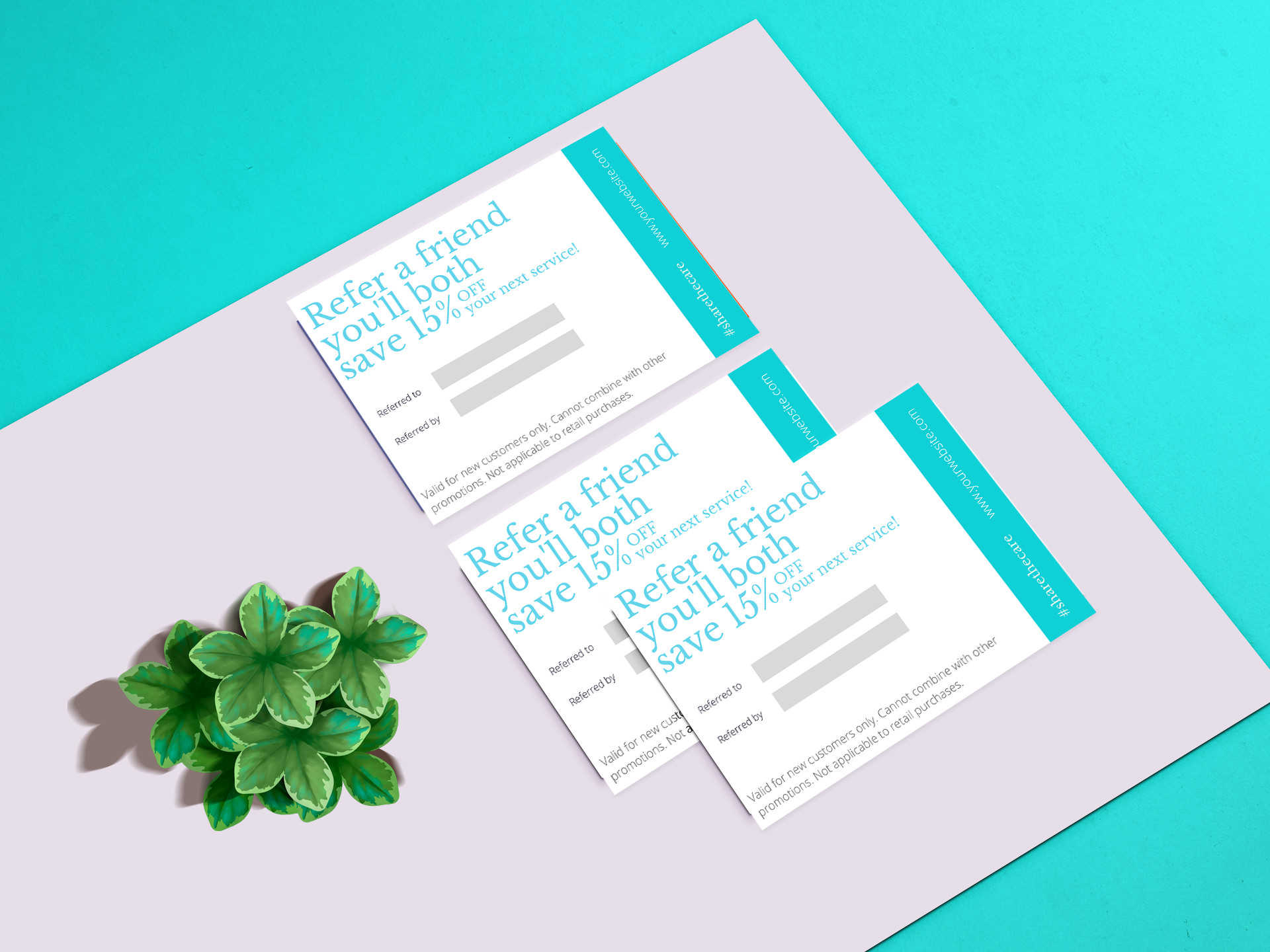 Referral Card Template Wellness Business