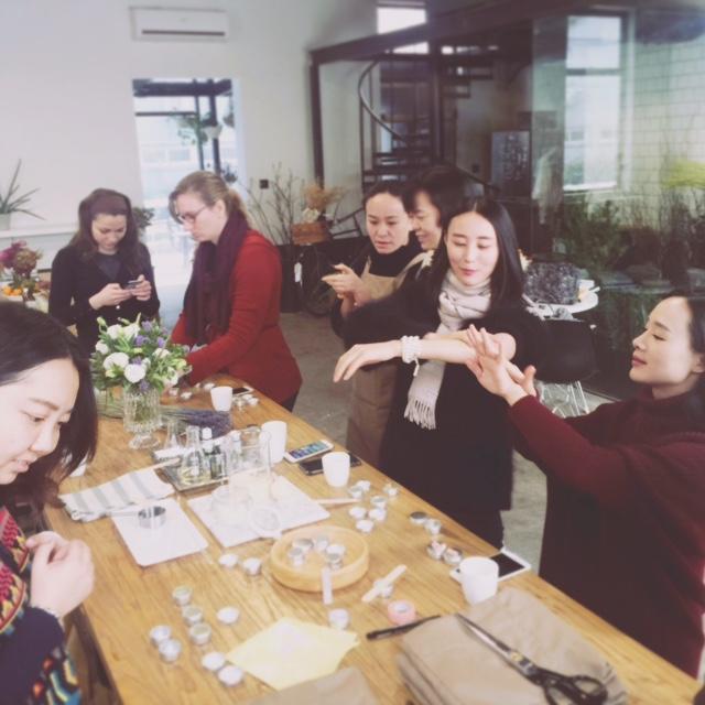 DIY lip balm workshop at Florette flower boutique