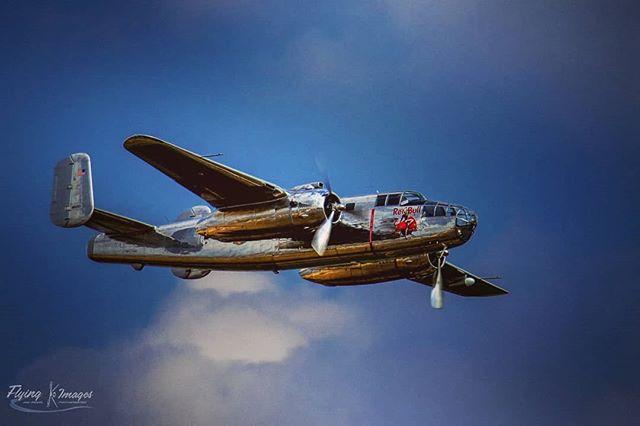 "Flying Bulls B-25 ""Mitchell"" at Duxford Flying Legends Airshow 2018 #flyinglegends #duxfordairshow #warbird #warbirds #warplane #raf #battleofbritain #secondworldwar #militaryaviation #ww2 #ww2planes #ww2fighter #wwiiaviation #wwiiaircraft #excellentaviation #aviationphotography #airshow2018 #aircraftphotos #aircraftrestoration #warbirdsphotographer #b25 #imageswithaltitude #aviationhistory #flyingbulls #b25mitchell"