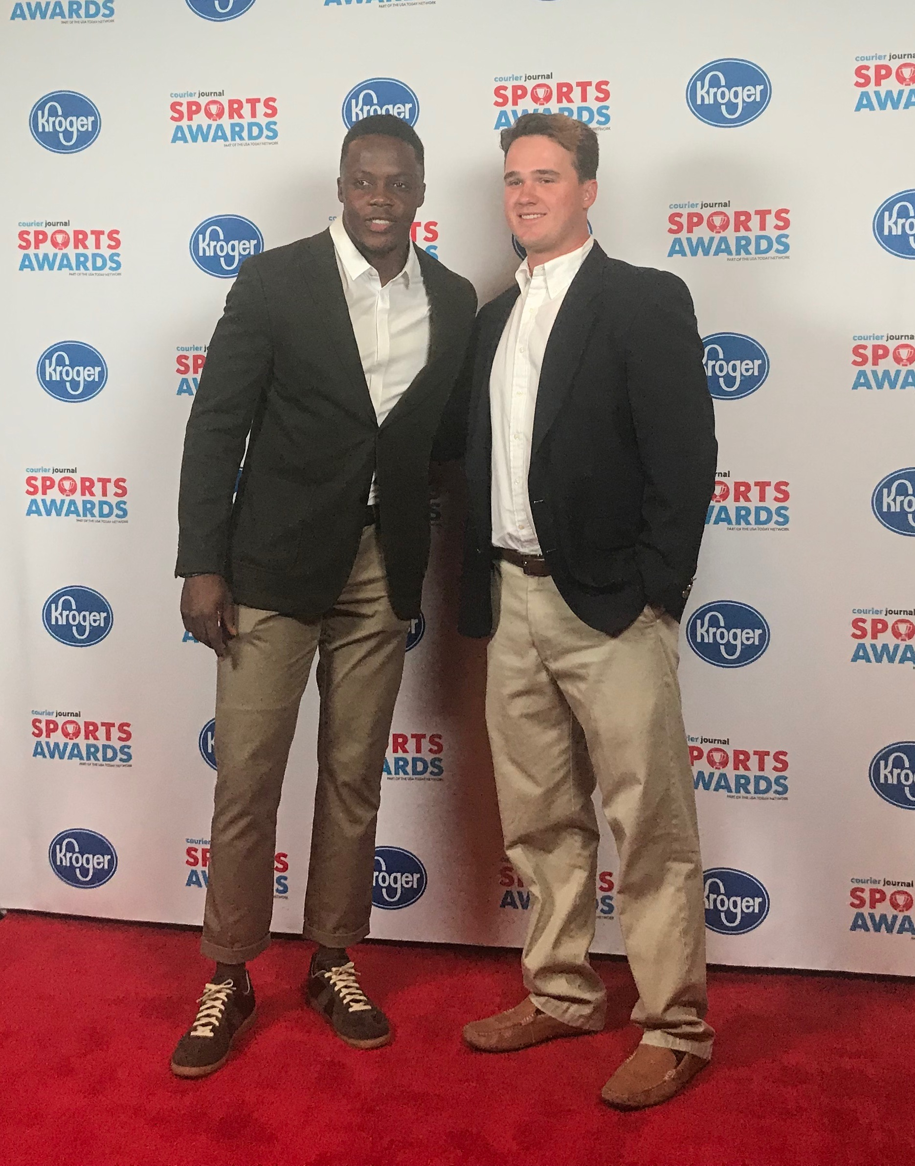 Seth Bacon with his hot date, Teddy Bridgewater.