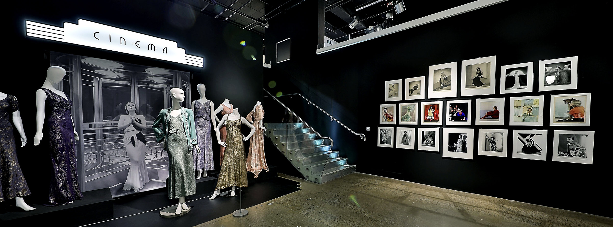 'Somewhere Over the Rainbow' section of the exhibition. Image courtesy of Fashion and Textile Museum.