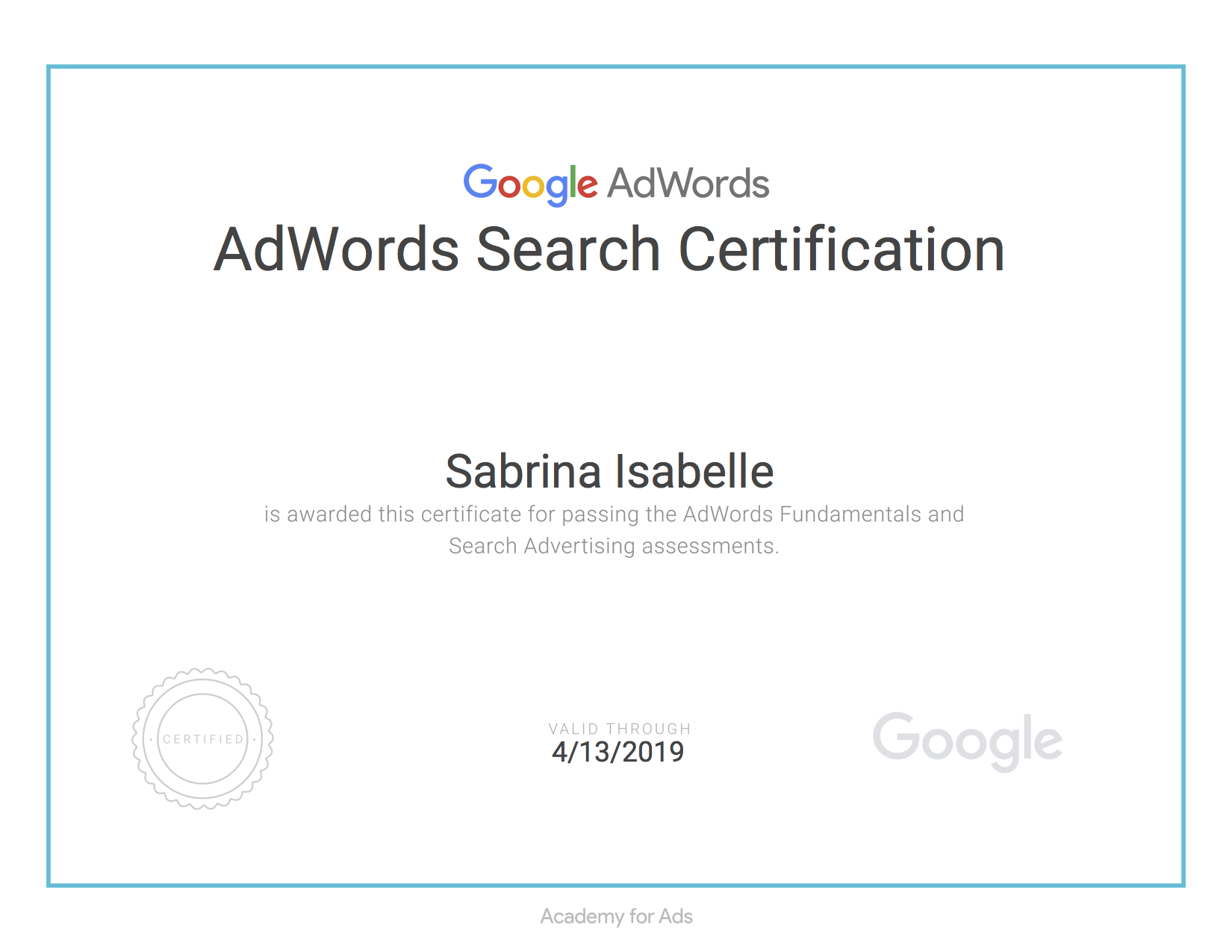 Google Adwords Search Certification.png