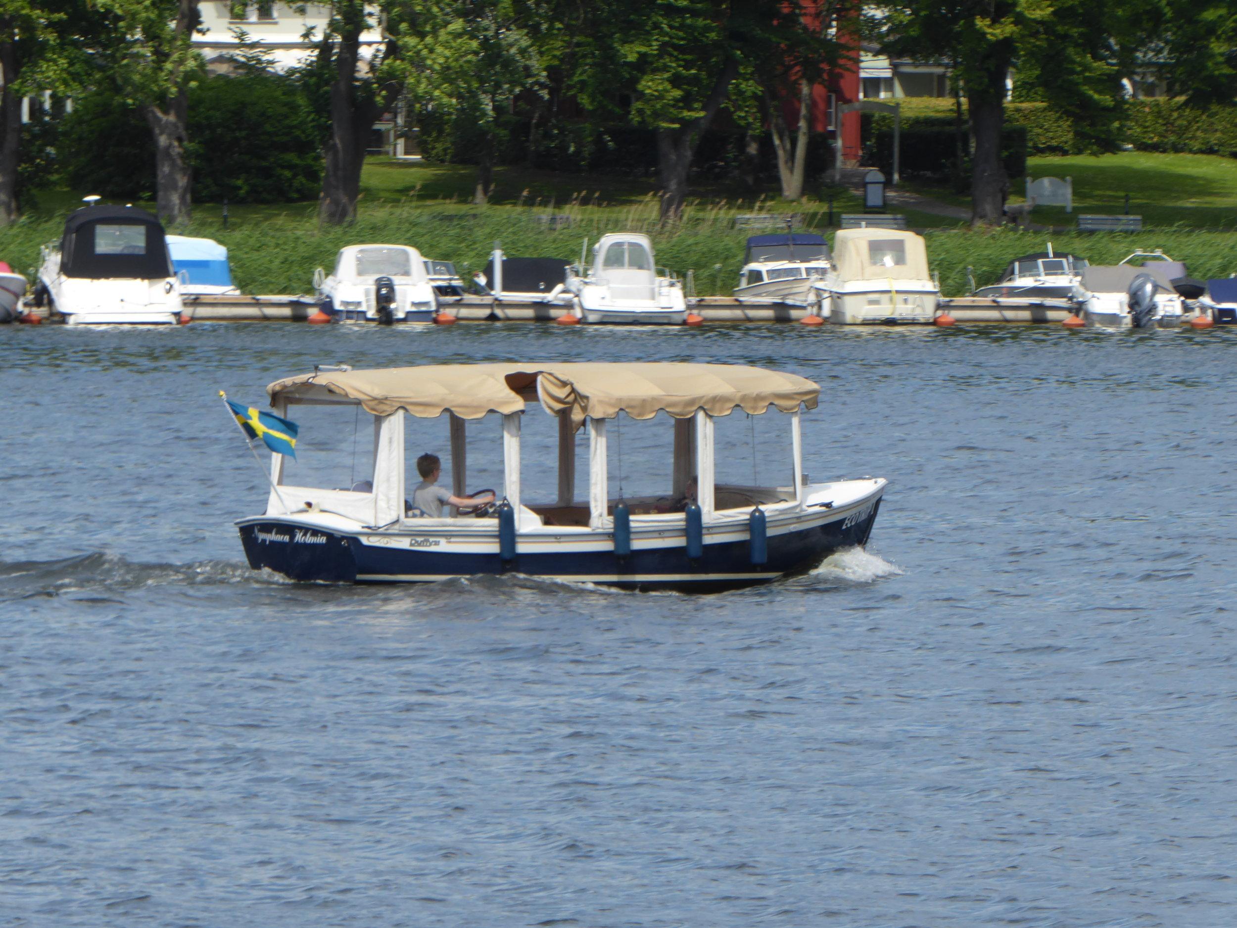 Båttur på Djurgårdskanalen