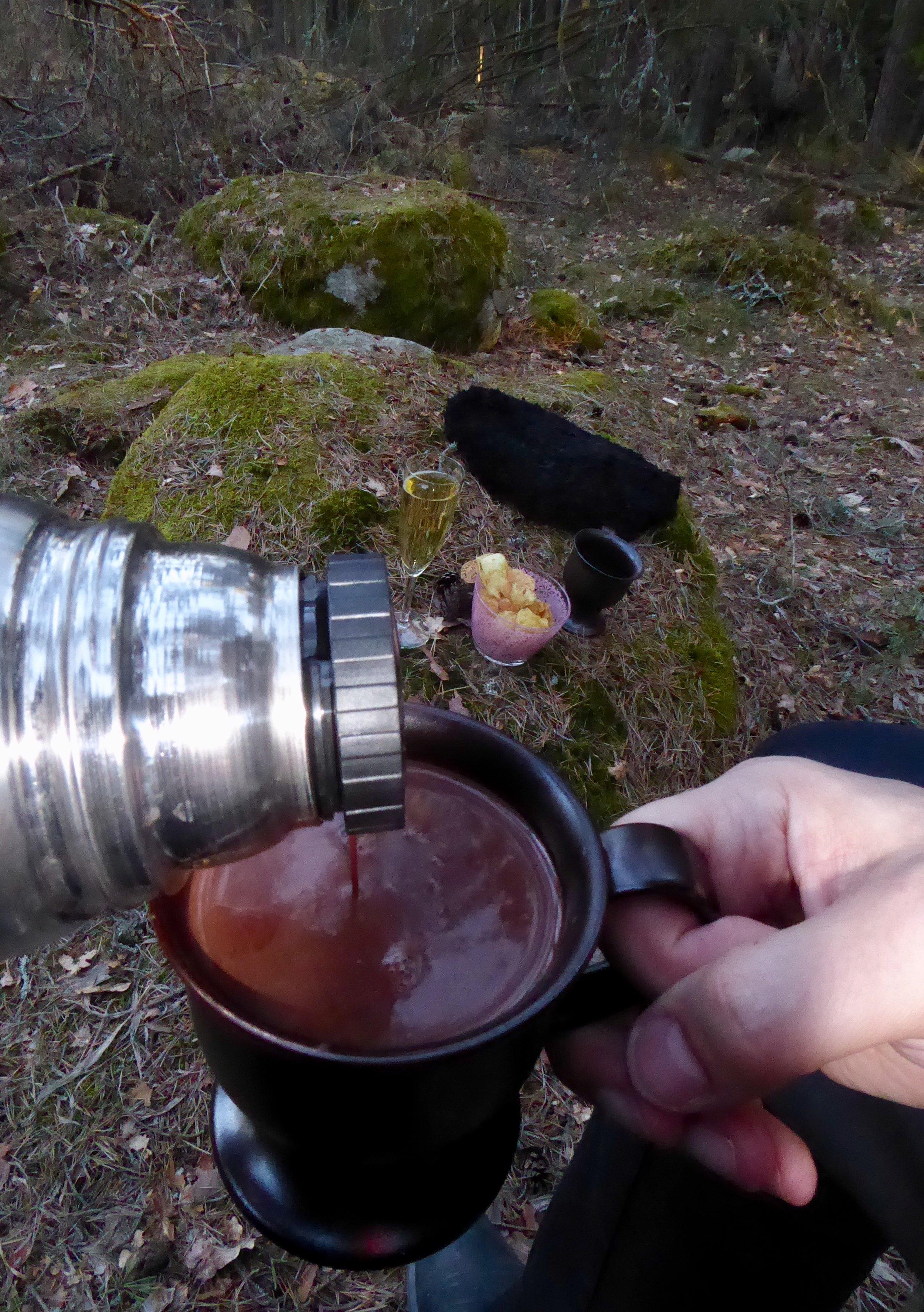 Varm choklad med något stärkande. Foto: Jenny Rosen, Djurgårdens Ekolyx.