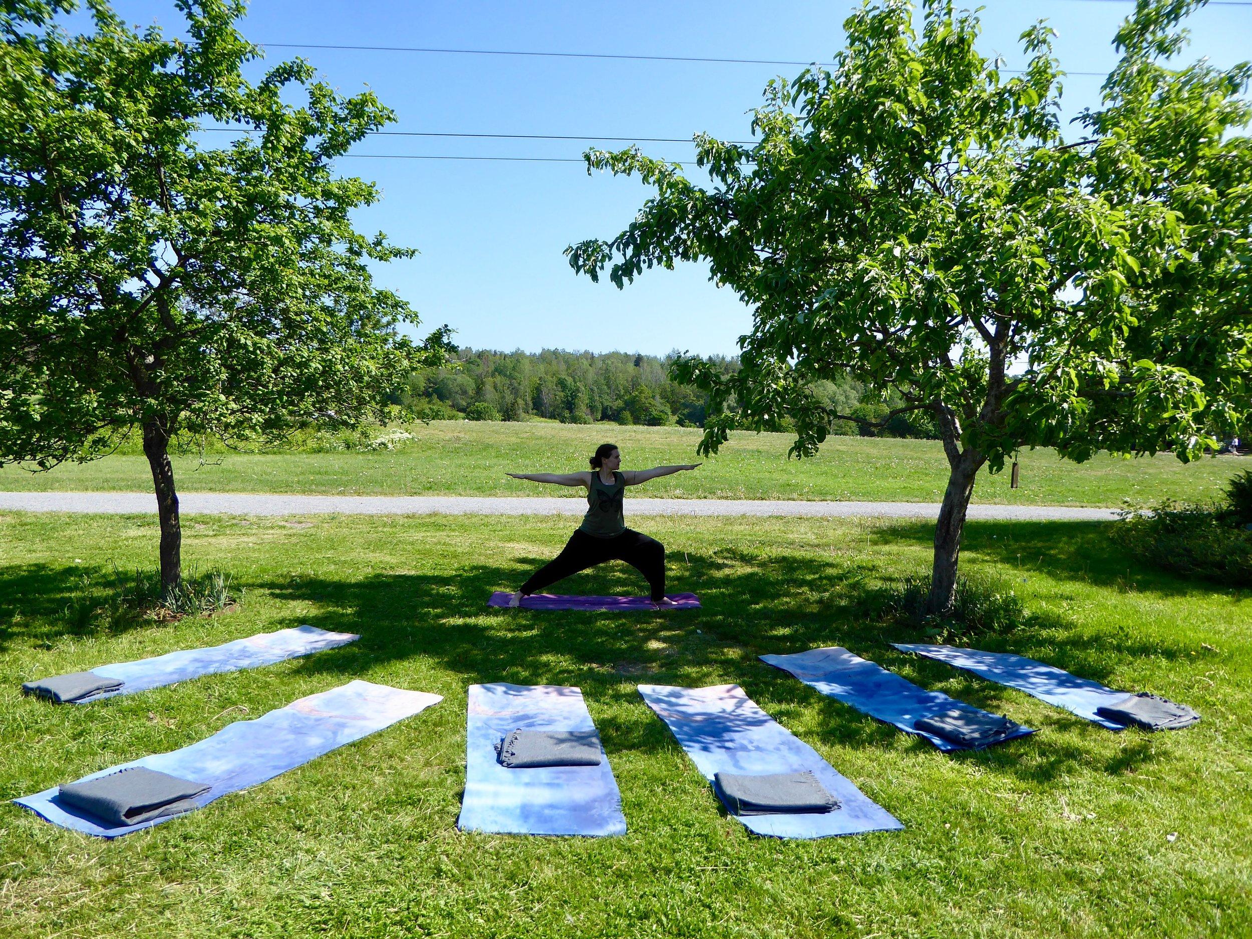 Sommaryoga på Stora Skuggan, med Veronica Holm Yoga.