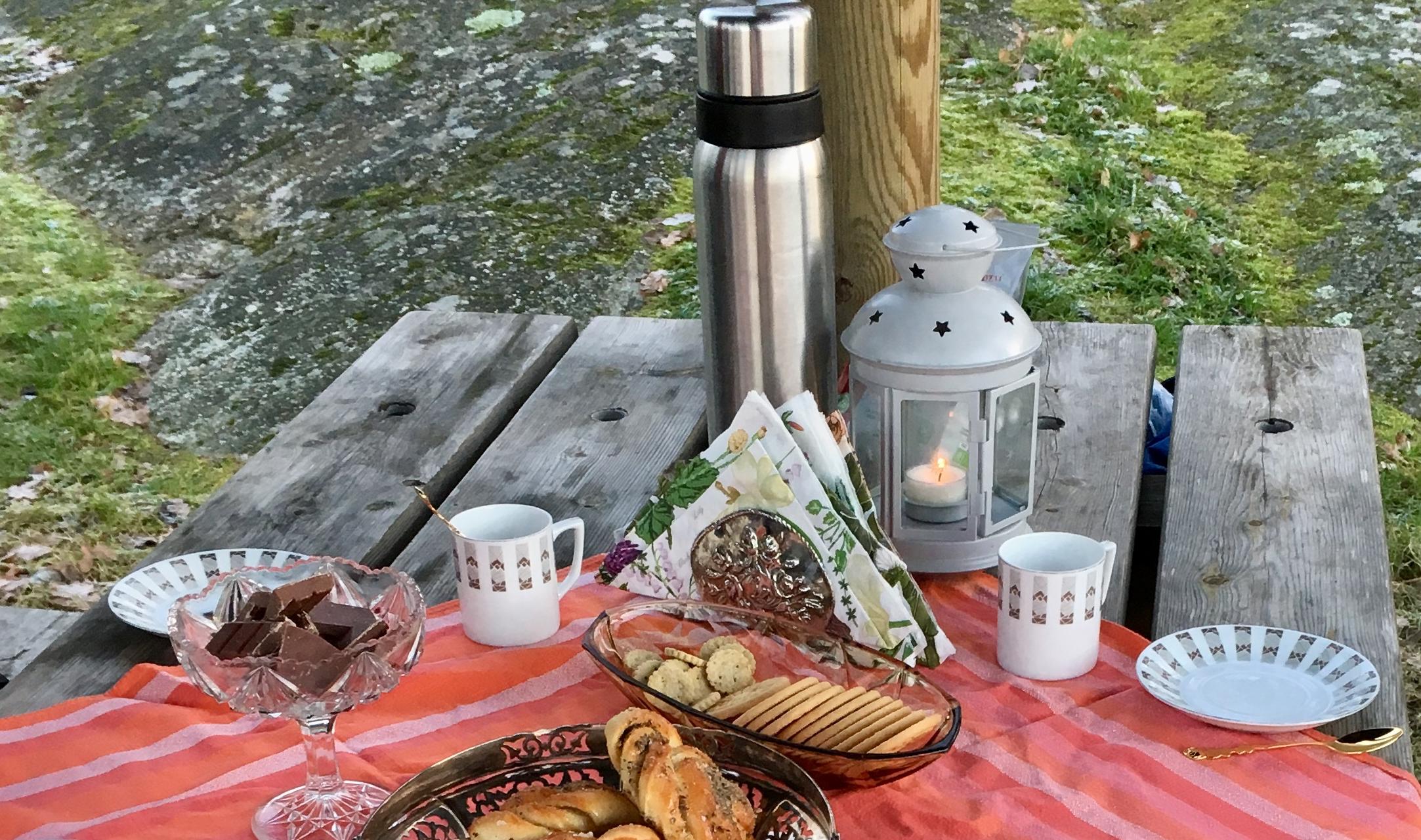 Vinterpicknick för två. Foto: Jenny Rosen, Djurgårdens Ekolyx.