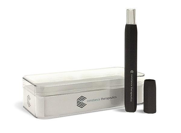 "Constance Therapeutics' cartridges pair with Jupiter Research's battery-charged ""Liquid9"" vaporizer pen."