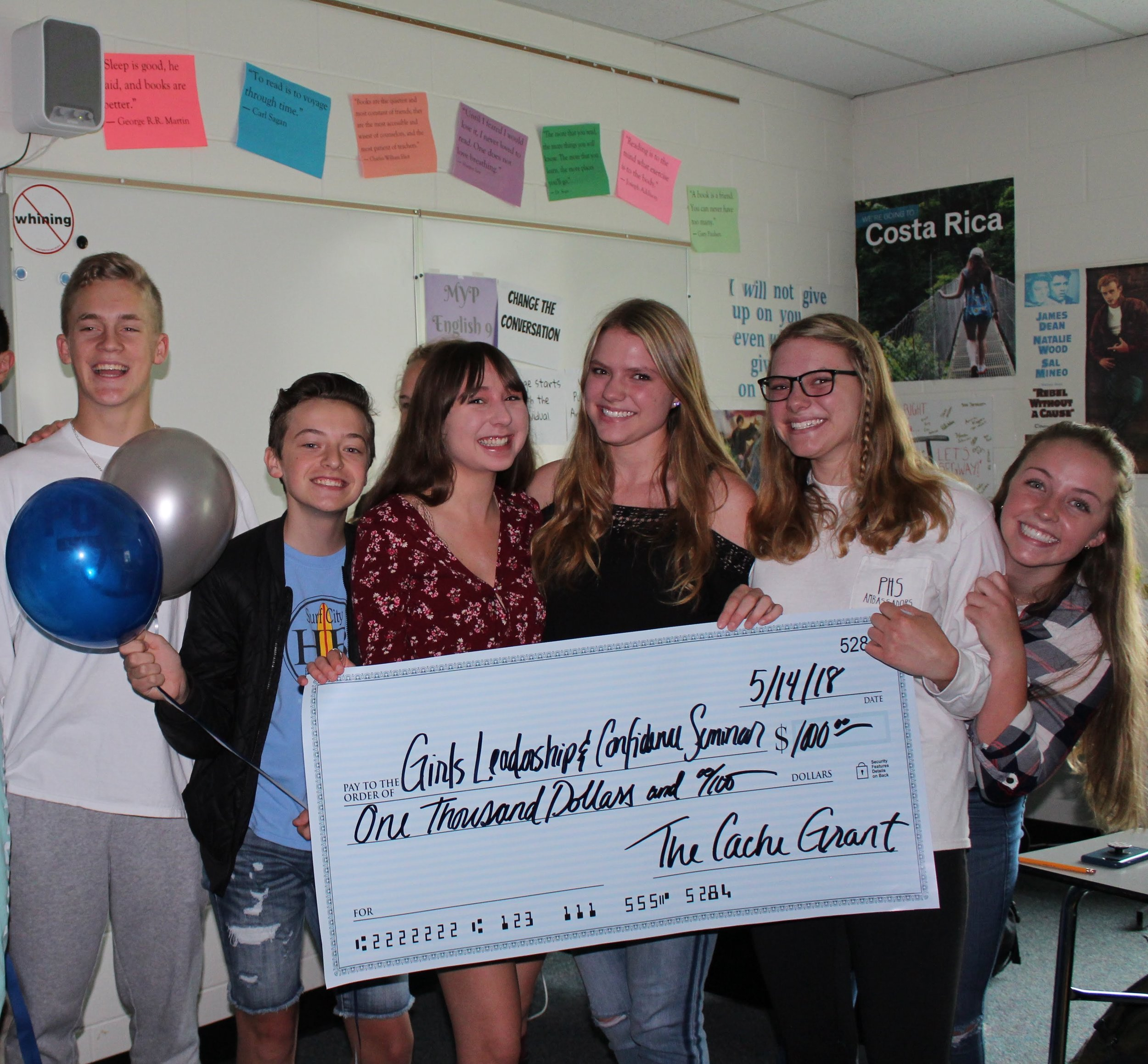 Girl's Leadership & Confidence Seminar - The Girl's Leadership and Confidence Seminar is a student led group that goes into middle schools to teach young middle school girls the importance of self confidence and women's empowerment. Funds from the Cache Grant will help with costs and expenses needed to run the seminar.