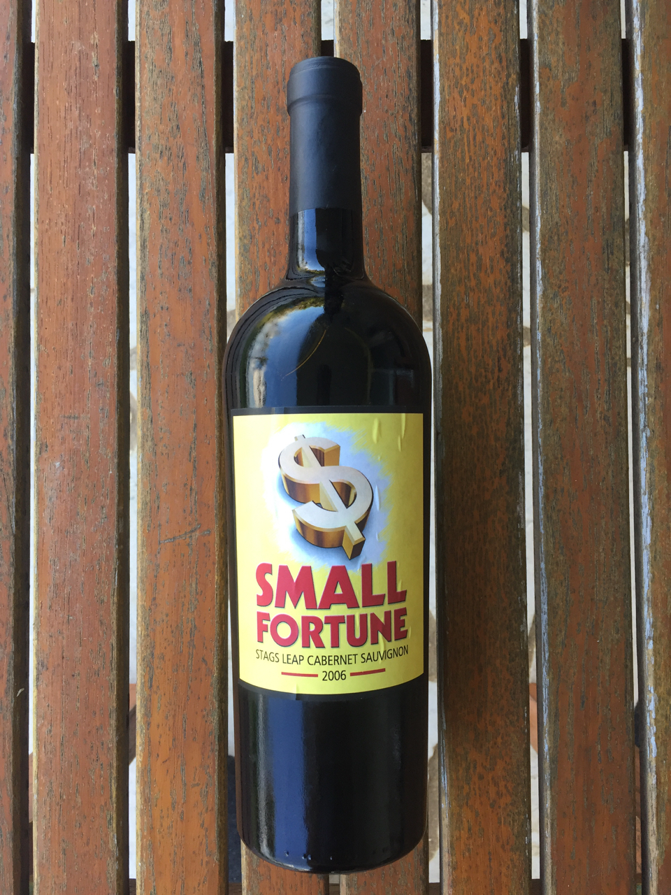 - Because the only way to make a small fortune in the wine business is to start with a bigger fortune!